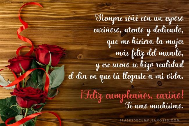 Frases De Feliz Cumpleaños a Mi Esposo En Imagen