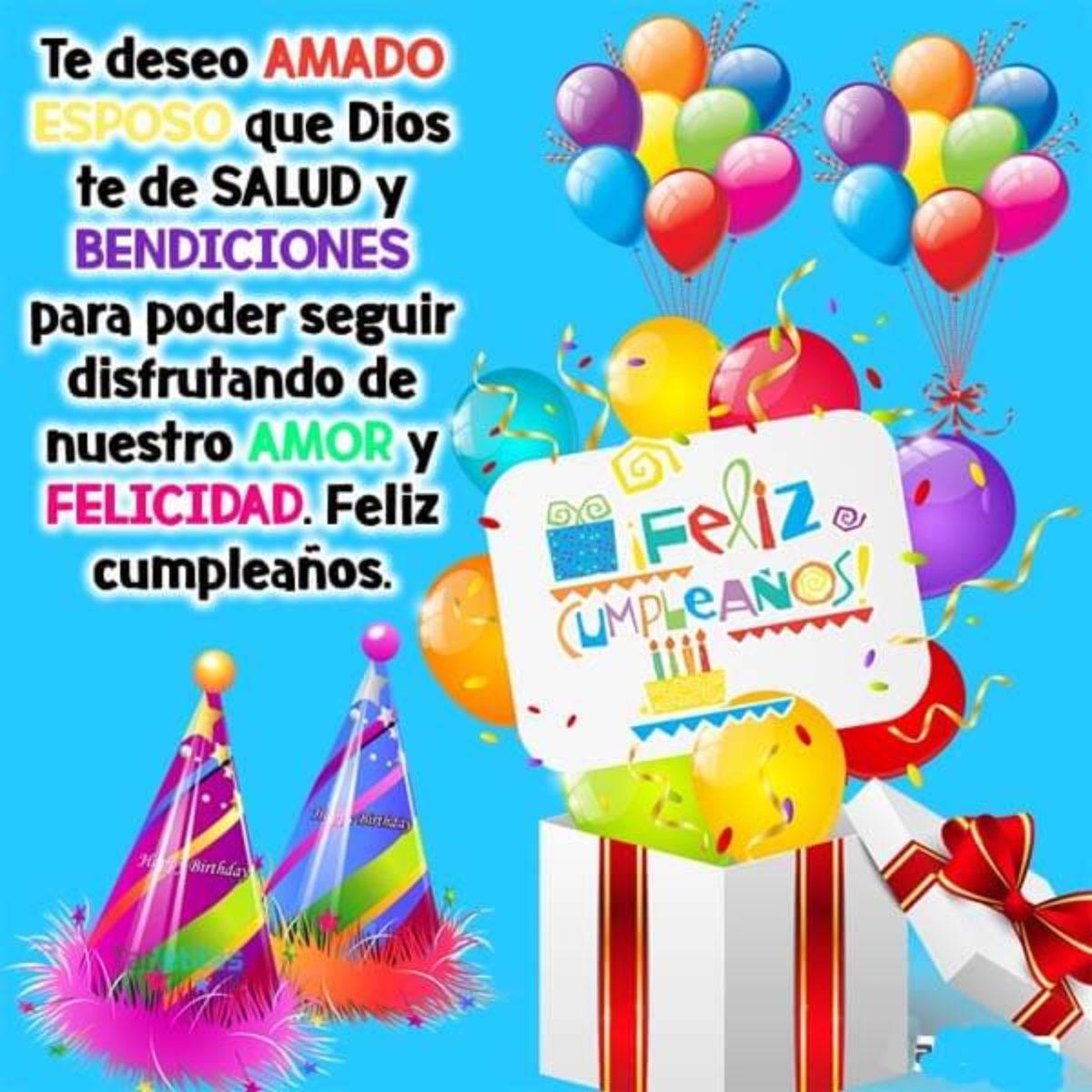 Imágenes Con Frases De Cumpleaños a Mi Esposo Para Felicitar Por Facebook