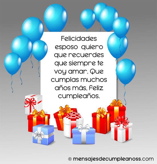 Imágenes Con Frases De Feliz Cumpleaños Esposo Mio