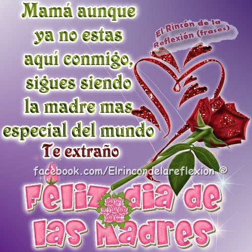 Hermosas Imágenes Con Flores Para Mi Madre Que Esta En El Cielo