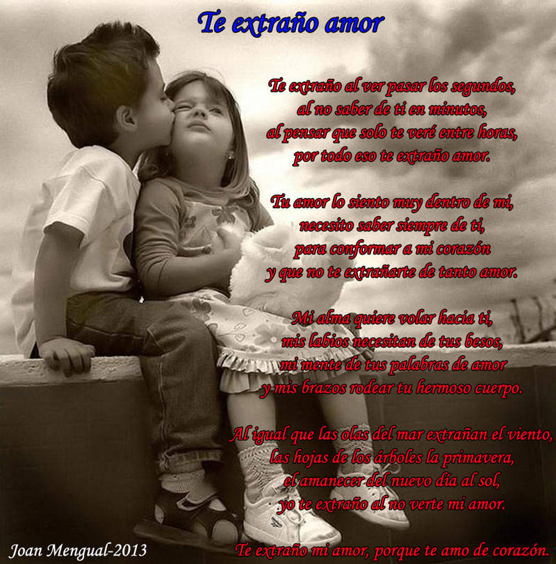 Poemas Cortos De Te Extraño Mi Amor