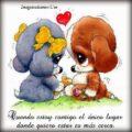 Imágenes De Perritos Enamorados Con Frases De Amor