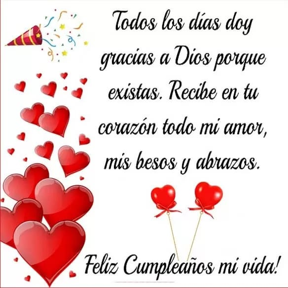 Imágenes De Feliz Cumpleaños Amor Mio