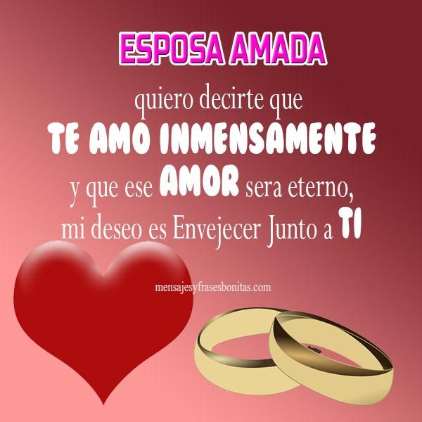 Imágenes Con Lindas Frases De Amor Mi Esposa
